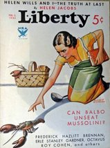 Revere F. Wistehuff, Liberty magazine, 1934 cover art by Revere F. Wiste... - $15.83