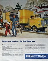 1946 Dodge Trucks, 40's Print Ad. Full Page Color Illustration (John F. ... - $13.85