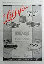 Libby's corned beef,veal loaf, hash-browned,dried beef. 1916 Print Ad. F... - $15.83