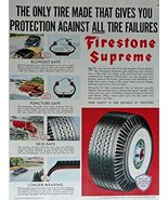 Firstone Supreme Tires, 50's Print Ad. full page Color Illustration (blo... - $12.86