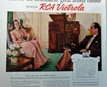 """RCA Victrola, 40's Full Page Color Illustration, 10 1/2"""" x 13 1/2"""" Print Ad. ..."""