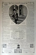 "Children's Page, February 13,1913 #89 The Youth's Companion 10 1/2"" x 16"" B&W... - $14.84"