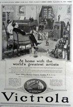 "Victrola, 1916 Print Advertisment. B&W Illustration 7 1/2"" X 10"" Print A... - $12.86"