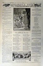 "Children's Page, June 19,1913 #325 The Youth's Companion 10 1/2"" x 16"" B&W Pr... - $13.85"