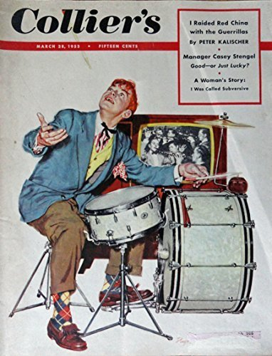 Primary image for James Dwyer, 50's Magazine Cover art, Color Illustration (boy with drums, sta...