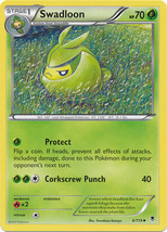 Swadloon 6/119 Uncommon Phantom Forces Pokemon Card - $0.49