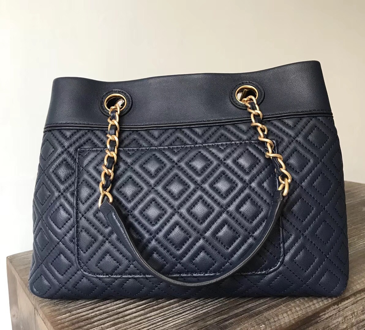 bf9995dd84d Tory Burch Fleming Small Navy Tote and 50 similar items
