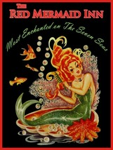The Red Mermaid Inn Metal Sign - $29.95