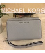 Michael Kors ADELE LG Flat Multi-Function Ph Case Wallet in DOVE,NWT - $110.95 CAD