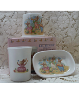 Vintage Lil Bunny Child's Bath Set // Soap Dish // Drinking Glass // Too... - $16.00