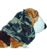 Dog Snood Green Brown Black Woodland Camouflage Camo Cotton Twill Size Large - $14.00