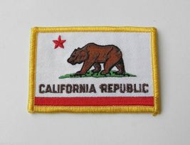 US STATE OF CALIFORNIA EMBROIDERED RECTANGLE PATCH 2.25 X 3.25 INCHES - $4.69