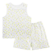 Baby Toddler Underwear Set Infant Vest&Shorts 2 Pieces Printing Green&Gray 6-9M