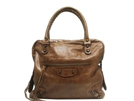 Balenciaga - Classic City Bowler Bag - Brown - $750.00