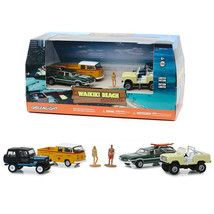 Waikiki Beach Summer Bash 6 piece Diorama Set (4 Cars and 2 Figurines) 1/64 Diec - $19.95
