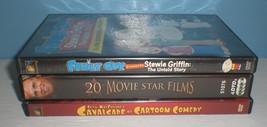 3 dvd lot - Stewie Griffin, 20 Movie Star Films & Cavalcade of Cartoon C... - $2.97