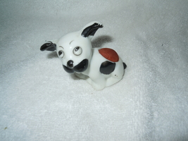 Vintage Ceramic Black & White Puppy Ceramic Pin Cushion - $8.99