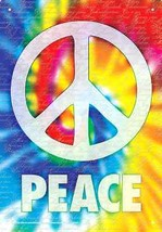 "Tin Wall Sign 8X11.5"" Metal Peace Words Home De... - $11.47"