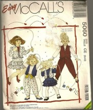 McCall's Sewing Pattern 5060 Jumping Beans Geni Pants Ruffle Skirt Jacke... - $5.89