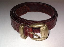 Genuine Leather Belt Women's size Medium Reddish Brown SALE - $14.99