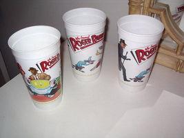 Roger Rabbit Cup Set/ 3 Roger, Jessica And Gang Mcdonalds Plastic 1988 - $15.99