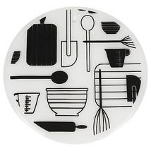 "7.5"" Round Silicone Trivet Set- Mixer Wisk Spatula Utensil Design - 2 pack - $9.99"