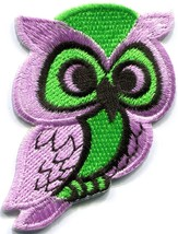 Owl bird of prey hoot animal wildlife applique iron-on patch new S-684 - $2.95