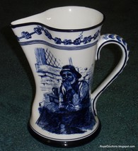 Antique Royal Doulton Flow Blue Morrisian Pitcher Old Salt By Walter Nunn D1979 - $363.74