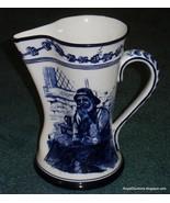 Antique Royal Doulton Flow Blue Morrisian Pitcher Old Salt By Walter Nun... - $363.74