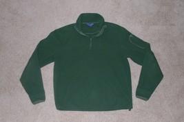 Ralph Lauren Polo Golf, Men's 1/4 Zip Fleece Pullover, Green, Small - $11.99