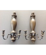 Decorative Pair of Syroco Candleholder Sconces #4004 - $24.65