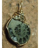 Pyrite Ammonite Pendant Wire Wrapped 14/20 Gold Filled by Jemel - $58.00