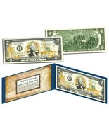 U.S. NAVY OFFICIAL LICENSED GOLD HOLOGRAM $2 BILL! W/H PROTECTIVE FOLIO ... - $16.65