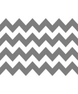 1/4 Sheet ~ Gray Chevron Background Birthday ~ Edible Image Cake/Cupcake... - $6.30
