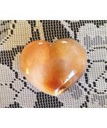Beautiful Carnelian Heart Paper Weight or Objet... - $21.99