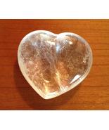 Beautiful Clear Quartz Heart Paper Weight or Ob... - $21.99