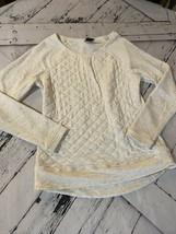 32 degrees heat Small long sleeve Cream Womens Top - $8.81