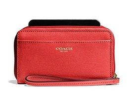 Coach Saffiano EW Universal Case 64976 Love Red - $113.34