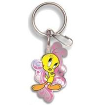 Looney Tunes Tweety Bird Pink Enamel & Metal Ke... - $7.95