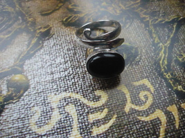 Paranormal Powerful Protective  Black Dragon Ring Size 6.5 - $80.00
