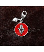 925 Sterling Silver Charm Hamsa, Hand of Fatima, Protection Evil Eye - $25.25