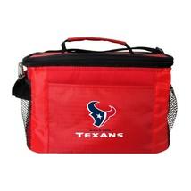 HOUSTON TEXANS LUNCH TOTE 6 PK BEER SODA TEAM LOGO KOOLER BAG NFL FOOTBALL - $15.81