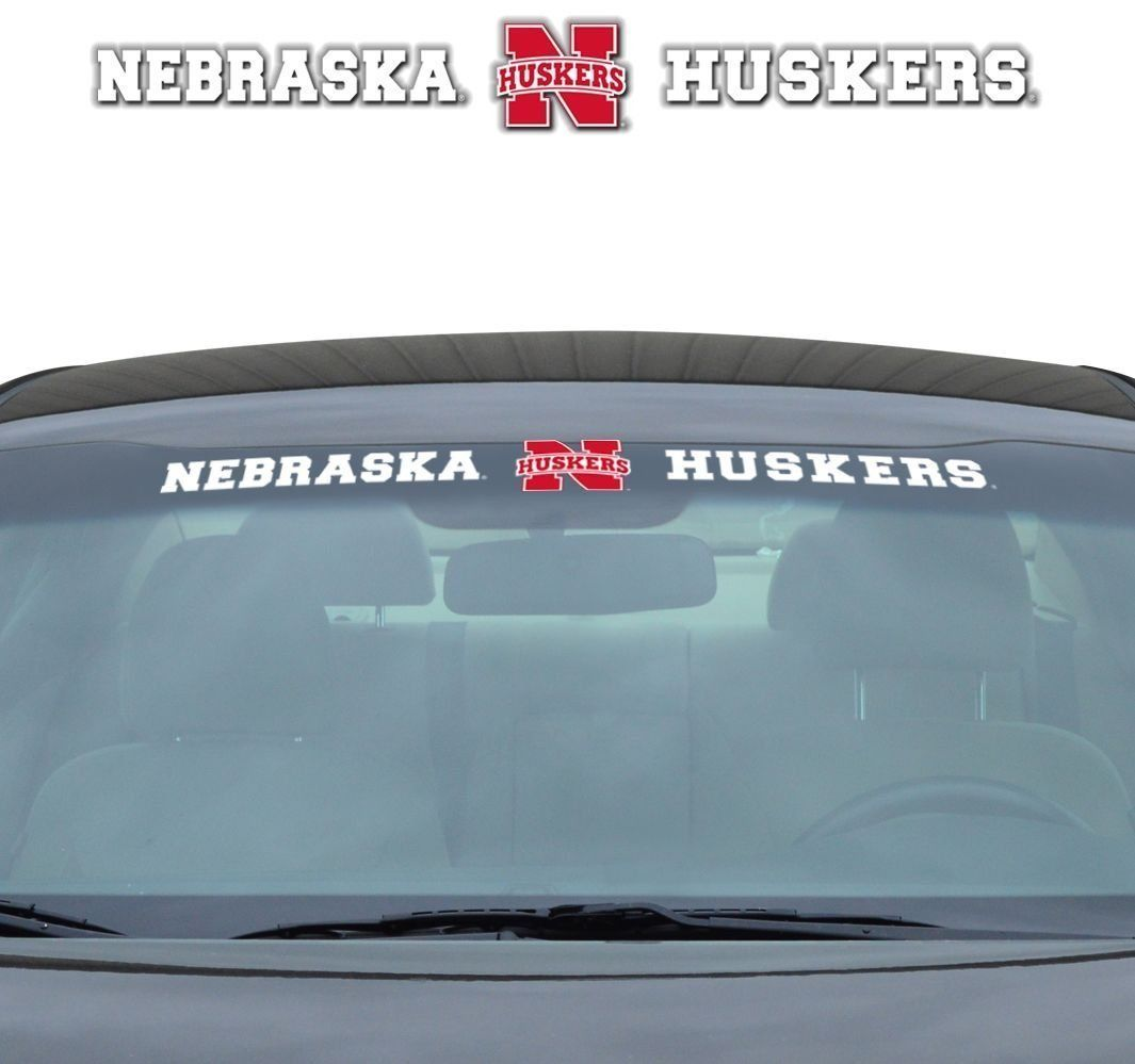 "NEBRASKA HUSKERS 35"" X 4"" WINDSHIELD - REAR WINDOW DECAL CAR TRUCK NCAA"
