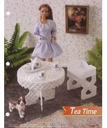 Tea Time, Annie's Attic Fashion Doll Plastic Canvas Pattern Club Leaflet... - $2.95