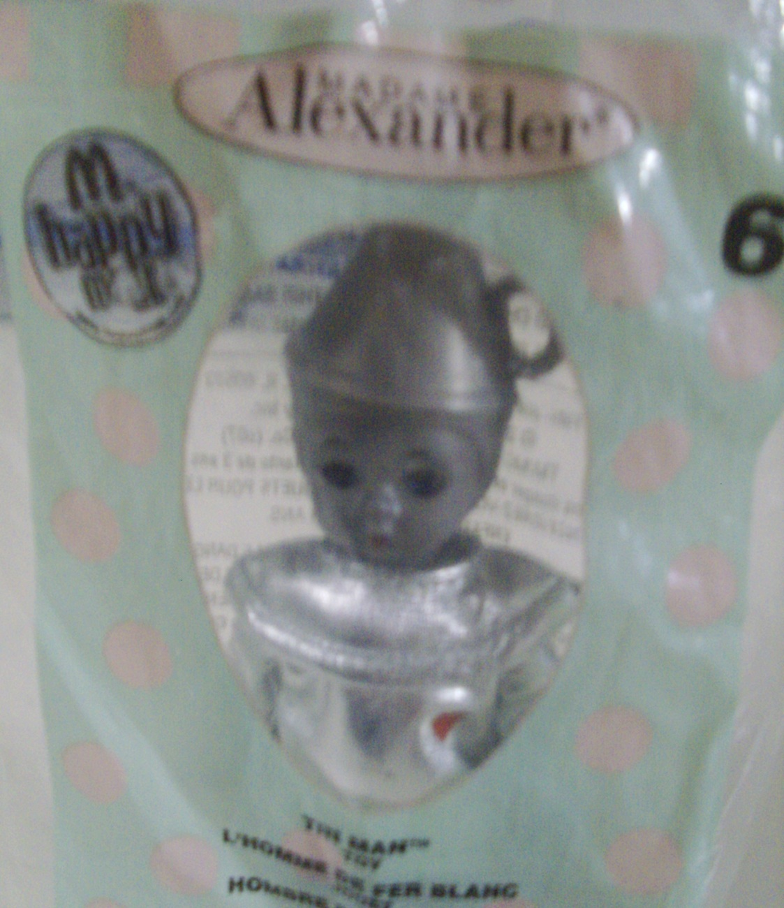 Madame Alexander Tin Man doll 2007 McDonald's Happy Meal toy Wizard of Oz - New