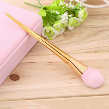 Professional Pink Rose Gold Makeup Brush Cosmetic Sculpting Foundation B... - $609,51 MXN