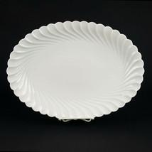 """Haviland Limoges Torse Large Oval Serving Platter, Vintage All White Swirl 14"""" - $78.40"""