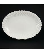 Haviland Limoges Torse Large Oval Serving Platter, Vintage All White Swi... - $78.40