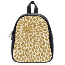 Gold Droplets Leather Kid's School Bag / Children's Backpack - $33.94+