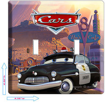Disney Cars 3 Sheriff Police Double Light Switch Plate Boys Bedroom Room Decor - $10.79